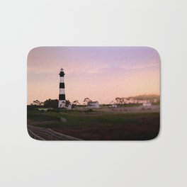 Sunrise at Bodie Lighthouse x Outer Banks Bath Mat