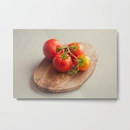 Early Girl Tomatoes on the vine Metal Print