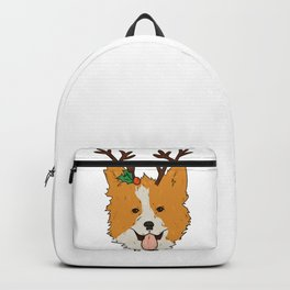 Christmas Corgi Backpack