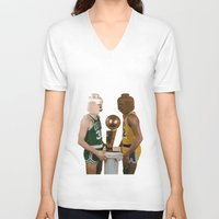lakers V-neck T-shirts featuring lego magic by tbdaniel15