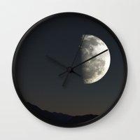 luna Wall Clocks featuring Luna by nonono