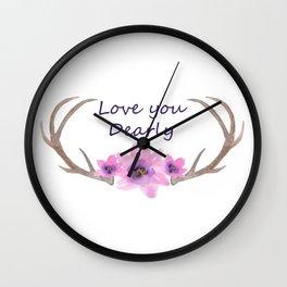 Love you Dearly 2 Wall Clock