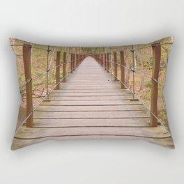Orange Grove Suspension Bridge Rectangular Pillow