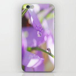 Natural raindrops slide / Natürliche Regentropfen Rutsche iPhone Skin