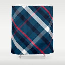 Blues-y plaid Shower Curtain