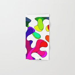 Colorful Blobs Blending Together  Hand & Bath Towel