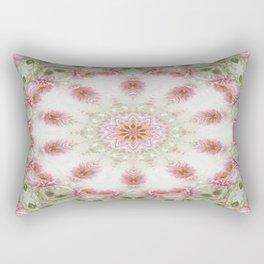 Pink Chrysanthemums Kaleidoscope Art 6 Rectangular Pillow