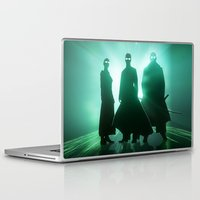matrix Laptop & iPad Skins featuring The Matrix by Mikko