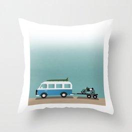 Surf Vans Throw Pillow