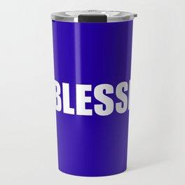 #BLESSED blue & white Travel Mug