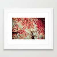 red Framed Art Prints featuring Autumn Inkblot by Olivia Joy StClaire