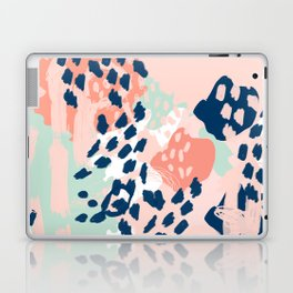 Kylie - abstract mint pastels painting boho trendy simple minimalist canvas home decor Laptop & iPad Skin