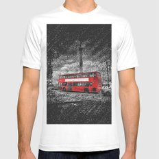 London 3 chalk drawing MEDIUM Mens Fitted Tee White