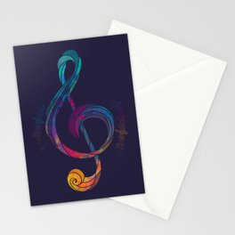 Treble Color Stationery Cards