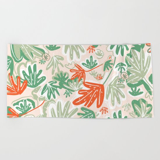 Tropical Abstract Pattern Beach Towel