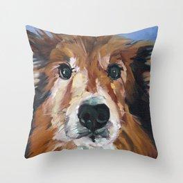 The Collie Sparky Throw Pillow