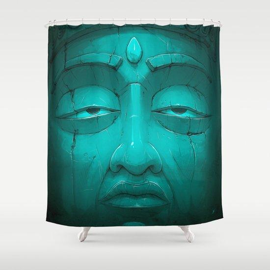 Buddha I. Shower Curtain