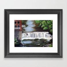 River Falls Framed Art Print