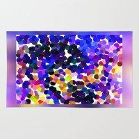 confetti Area & Throw Rugs featuring Confetti by Art-Motiva