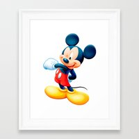 mickey Framed Art Prints featuring Mickey by loveme