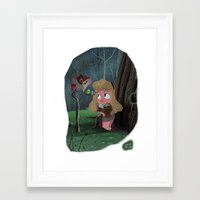 aurora Framed Art Prints featuring Aurora by David Pavon