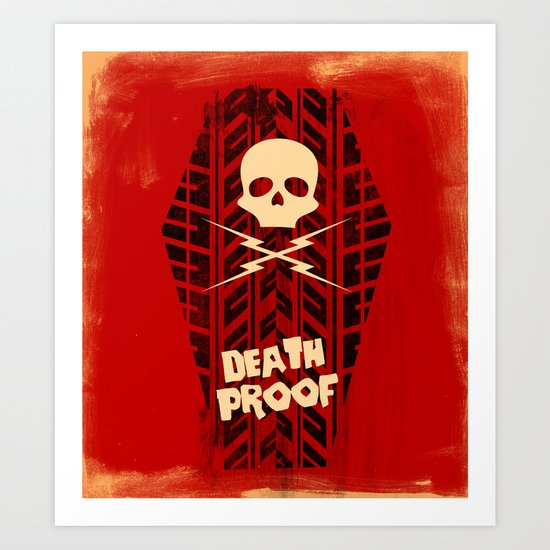 Death Proof - Movie Posters Art Print