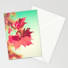 Autumn Maple Leafs Stationery Cards