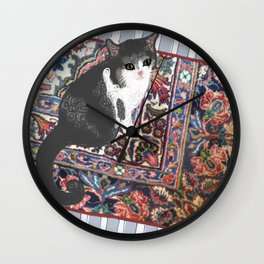 Patty on the Knoll Doodle Wall Clock