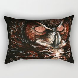 Owl, Barred Owl, Bird Rectangular Pillow