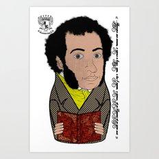 Alexandr Pushkin Matryoshka/Nesting Doll   А. С. Пушкин Матрешка Art Print