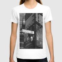broadway T-shirts featuring  Broadway & W42nd St by Suzanne Kurilla