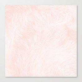 Pink Coral Fur Canvas Print
