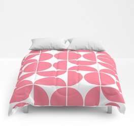 Mid Century Modern Geometric 04 Pink Comforters