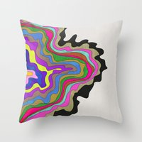 coasters Throw Pillows featuring Color Wave by Georgiana Paraschiv