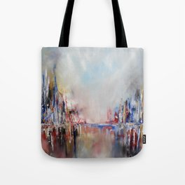 Spring urban landscape (OIL ON CANVAS) Tote Bag