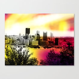Burning Bridges Canvas Print