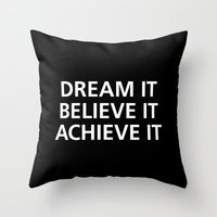 motivational Throw Pillows featuring Motivational by Motivational