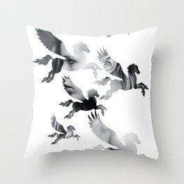Facing Pegasus Throw Pillow