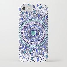 Indigo Flowered Mandala iPhone 7 Slim Case