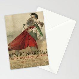 vintage placard prestito nazionale. circa 1916 Stationery Cards
