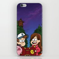 gravity falls iPhone & iPod Skins featuring Gravity Falls by toibi