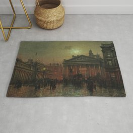 Mansion House, Kings Coronation Eve, London, England by Louis H. Grimshaw Rug