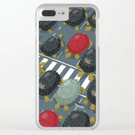 Tortoise traffic Clear iPhone Case