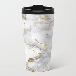 Italian gold marble Metal Travel Mug
