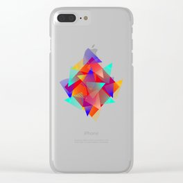 triangle ride Clear iPhone Case