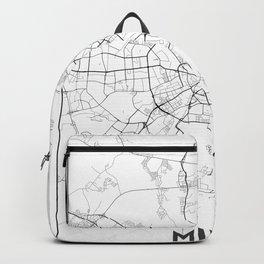 Minimal City Maps - Map Of Minsk, Belarus. Backpack