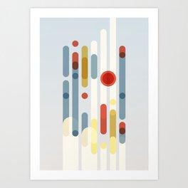 Future World Geometric Abstraction Art Print