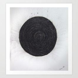 Charcoal circle Art Print