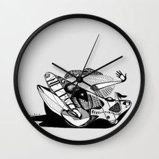 Wet boy - Emilie Record Wall Clock