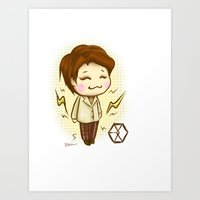exo Art Prints featuring Pathcode EXO - Chen by Minnie Dreamer